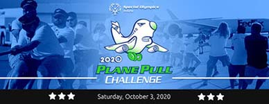 Special Olympics plane pull challenge