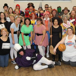 Orchard team dressing up for Halloween