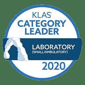 KLAS Category Leader 2020 seal for Laboratory small ambulatory