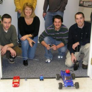 Orchard team having fun during a contest