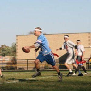 Orchard team playing flag football
