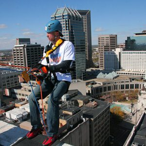 Orchard team at Over the Edge fundraising event