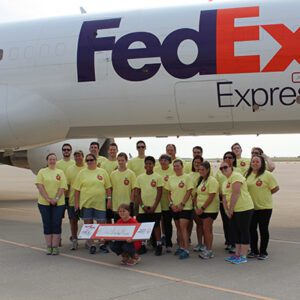 Orchard team at Special Olympics Plane pull event
